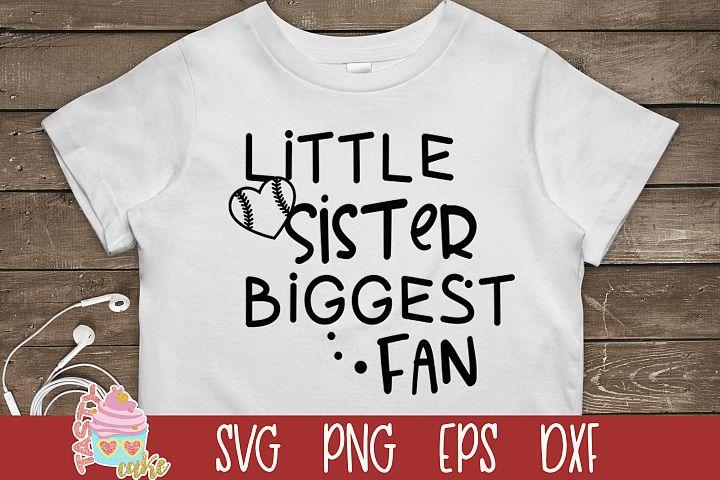 Little Sister Biggest Fun SVG - Baseball SVG