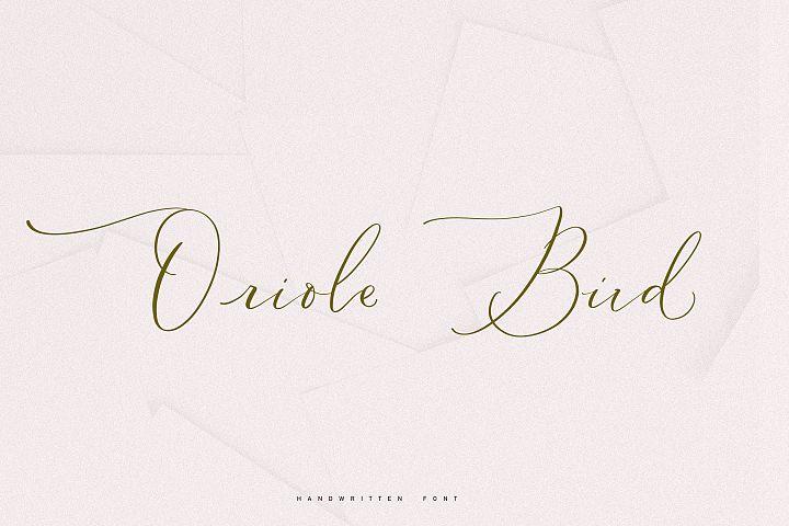 Oriole Bird handwritten font