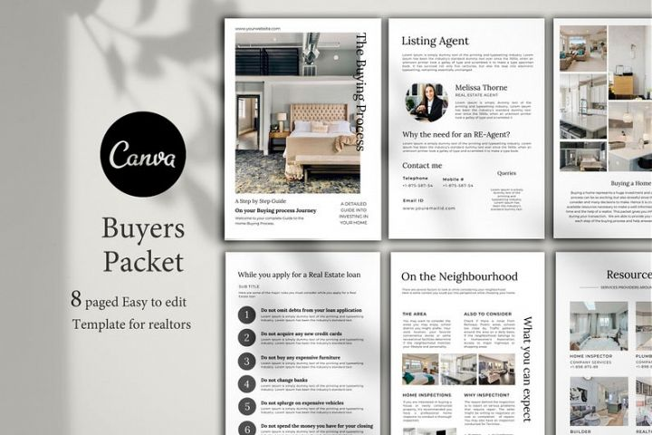 Real Estate Buyers Packet, 8 Pages, Canva