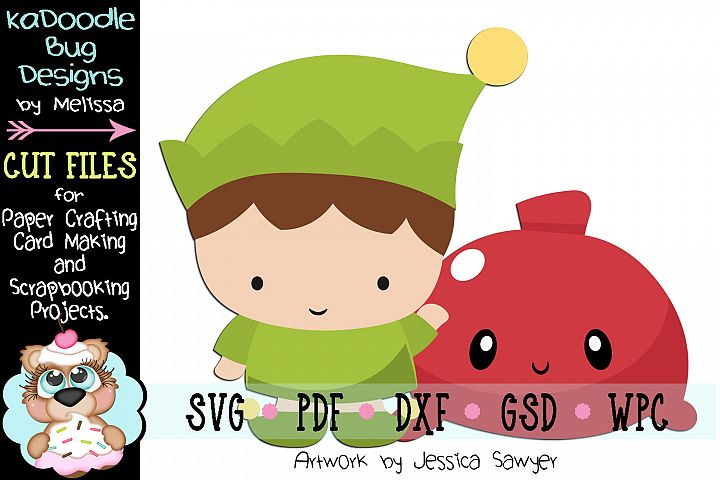 Kawaii Toy Elf Cut File - SVG PDF DXF GSD WPC