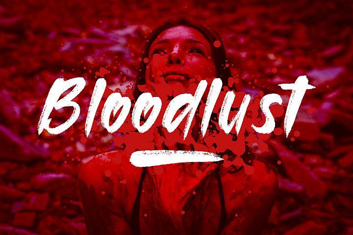 Bloodlust Brush Font