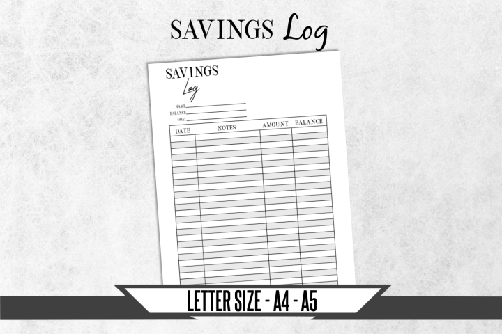 Savings Journal Printable Planner Page