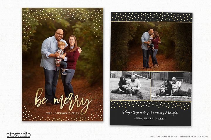 Christmas Card Template for Photographers CC200