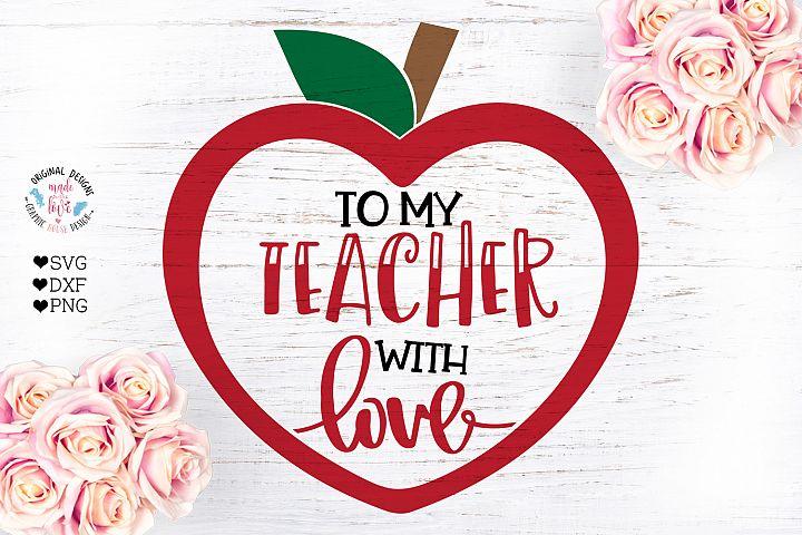 To my Teacher with Love