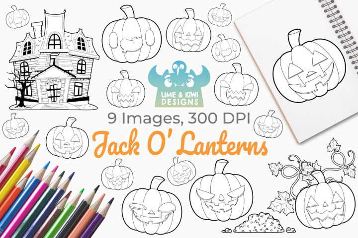 Jack O Lanterns Digital Stamps