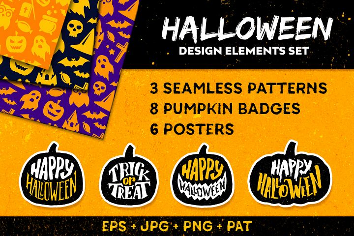 Halloween decorative elements