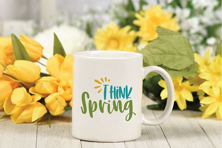 Think Spring SVG Cut File - Spring SVG DXF EPS PNG JPG AI example 3