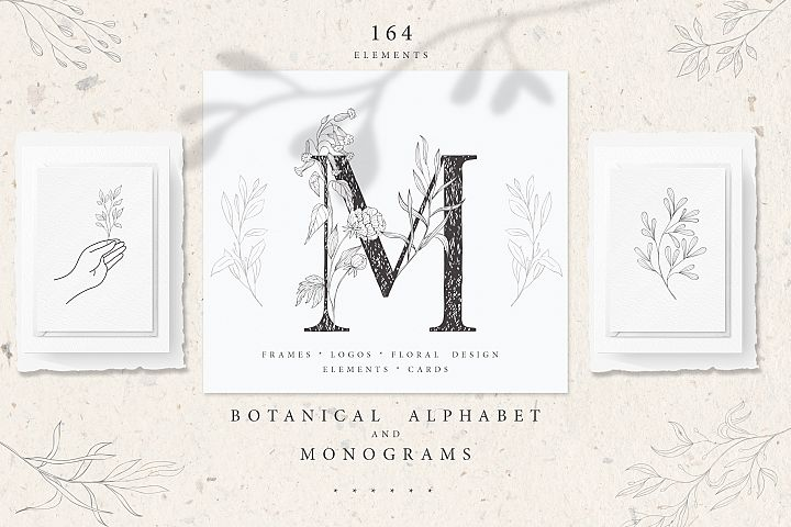 Botanical Alphabet and Monograms.