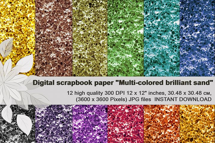 Multi-colored brilliant texture, digital Scrapbooking Paper
