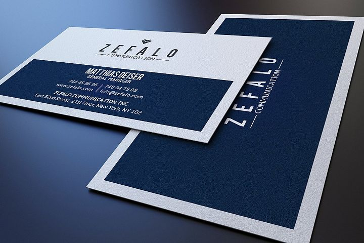 Clear Simple Business Card