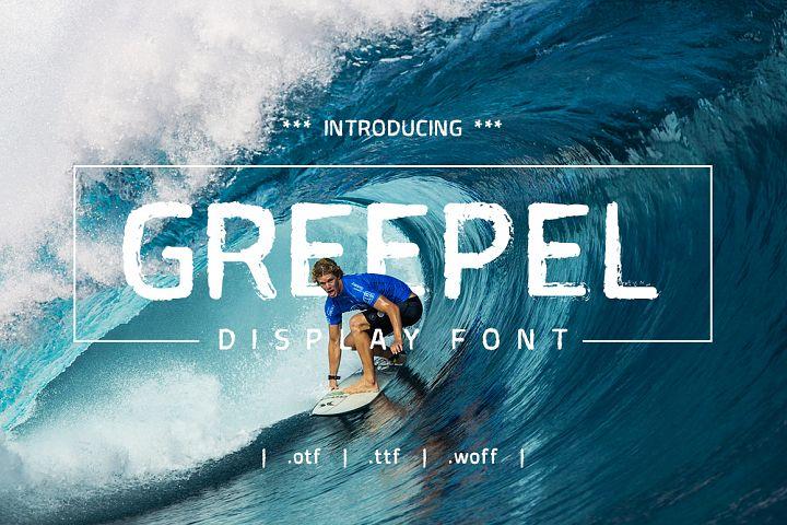 Greepel Grunge Font
