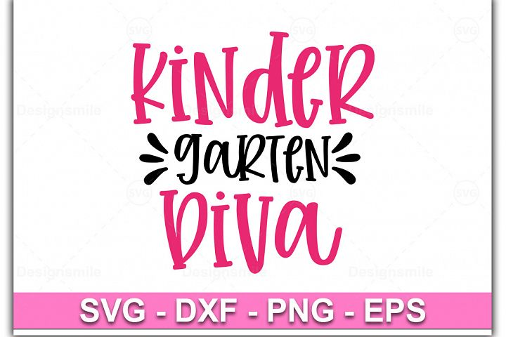 Kindergarten Diva SVG, Kindergarten Girl svgl