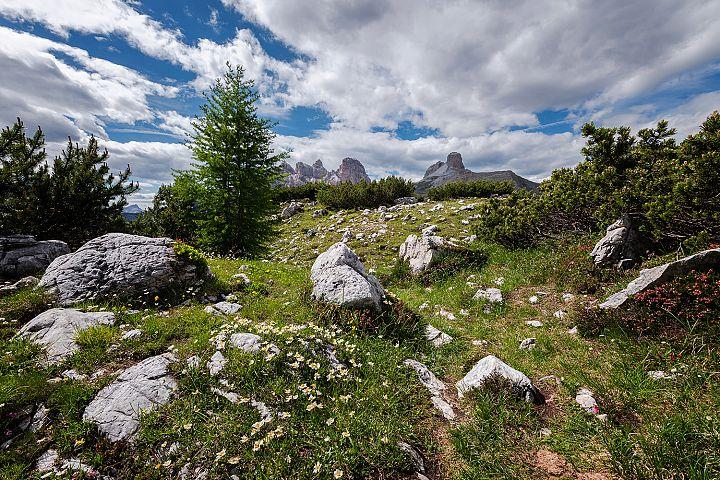 Tre Cime di Lavaredo from distance