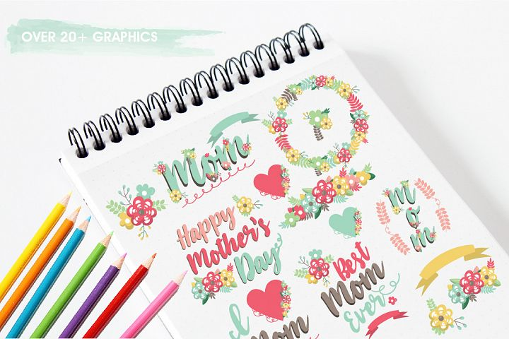 Mother's day graphics and illustrations - Free Design of The Week Design1