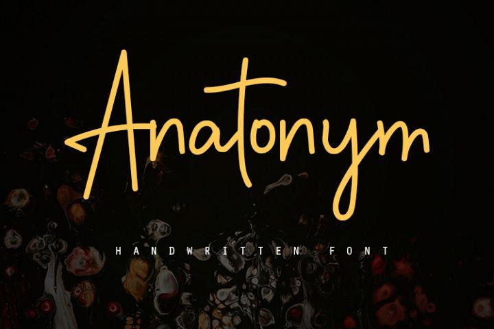 Anatonym - Script Font