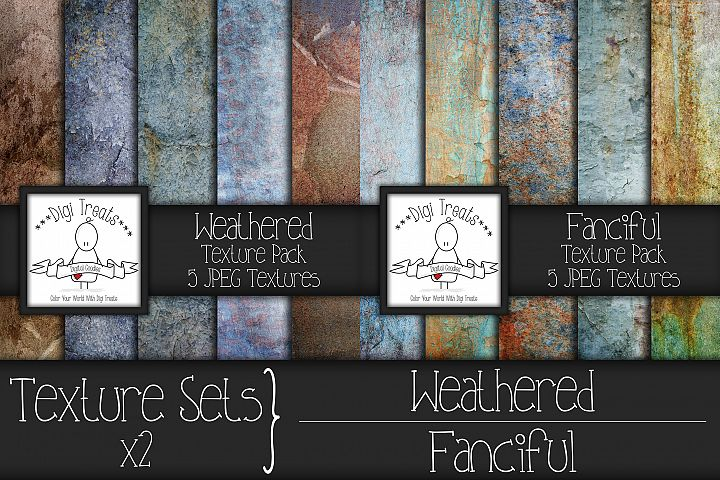 Texture Sets x2. Weathered and Fanciful.
