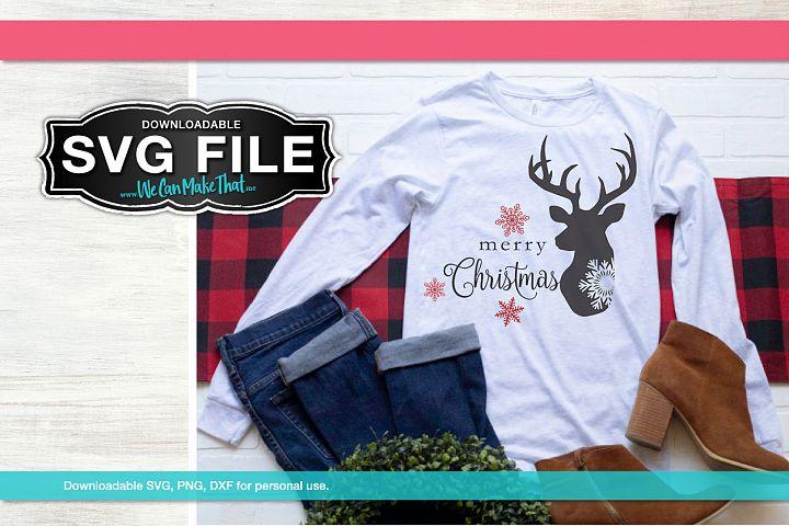 Merry Christmas Deer Tshirt SVG