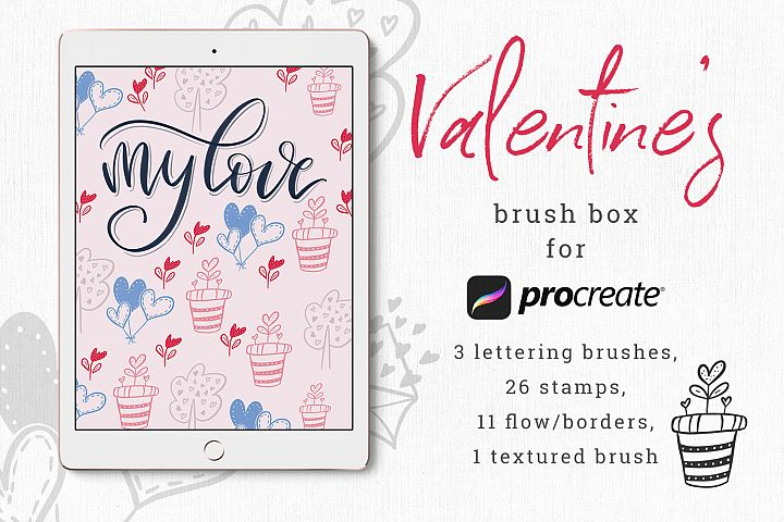 Valentines brush box for Procreate