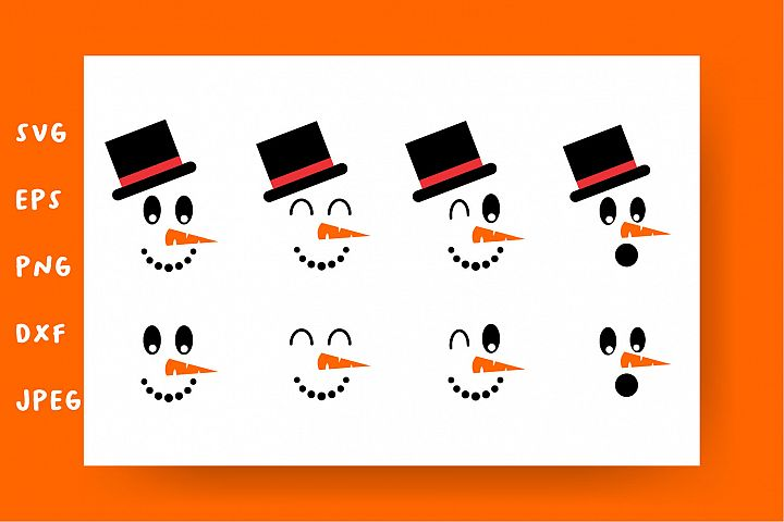 Snowman face bundle