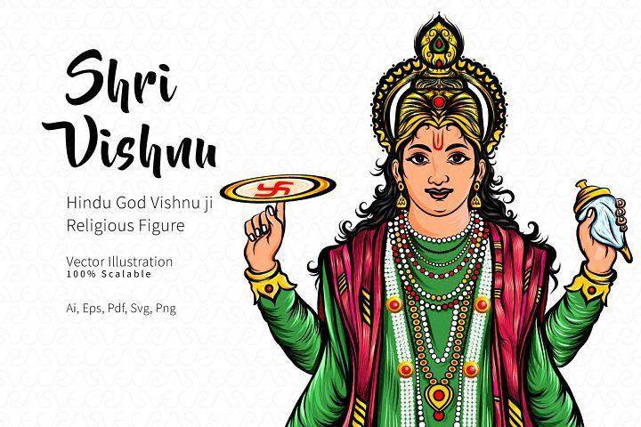 Shri Vishnu Vector Illustration
