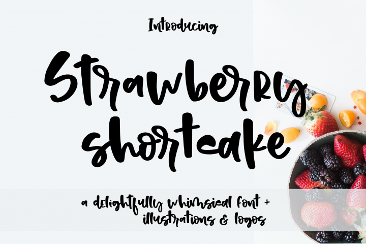 Strawberry shortcake font Extras!