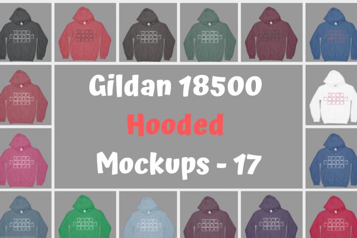 Gildan 18500 Hooded Mockups For Christmas - 17