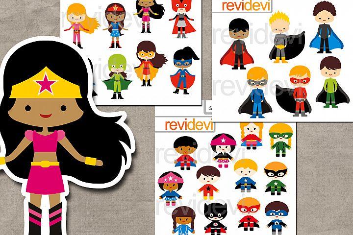 Superhero design bundle graphics and illustrations