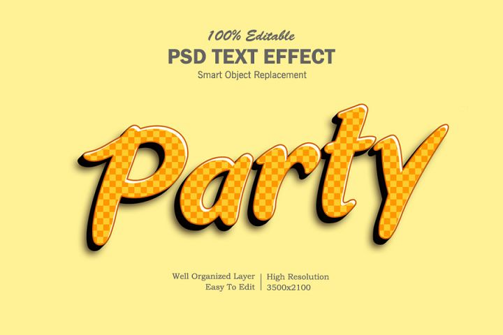 Party 3D Text Effects