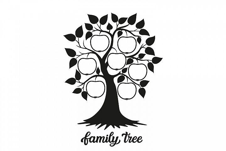 Family tree SVG cut file