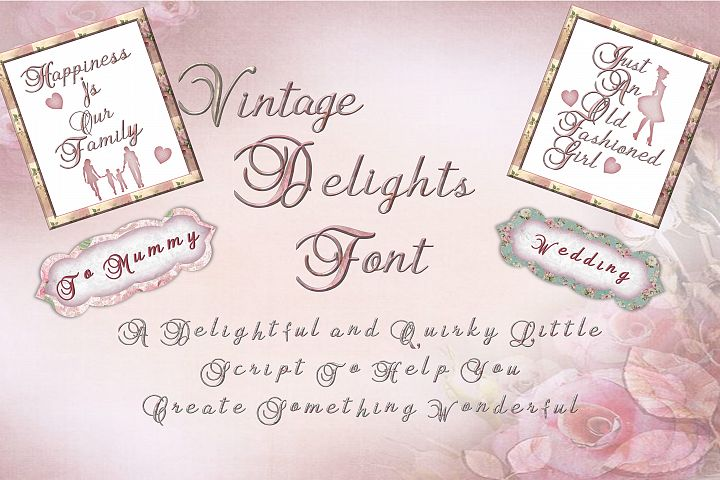 Vintage Delights Quirky Font