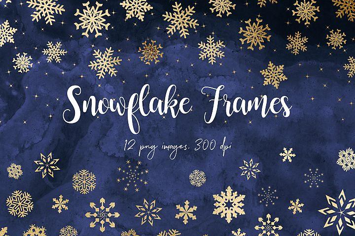 Gold Snowflake Borders
