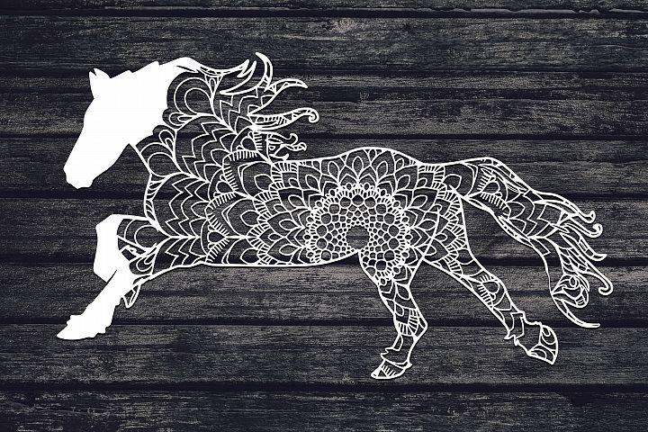 Mandala Horse Svg, Horse Svg, Mandala Svg, Zentangle Svg