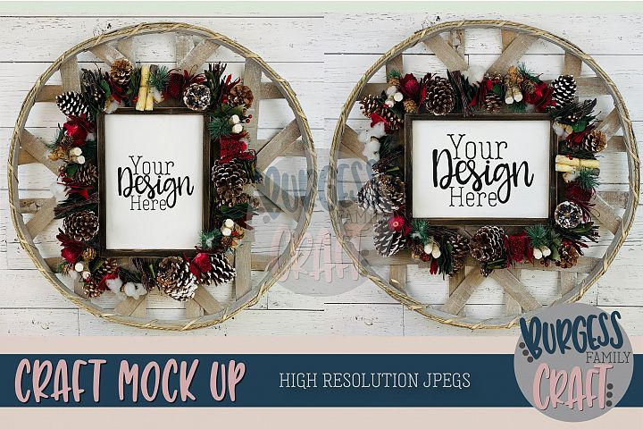 Christmas Wood Signs 2 for 1 Craft mock up |High Res JPEG