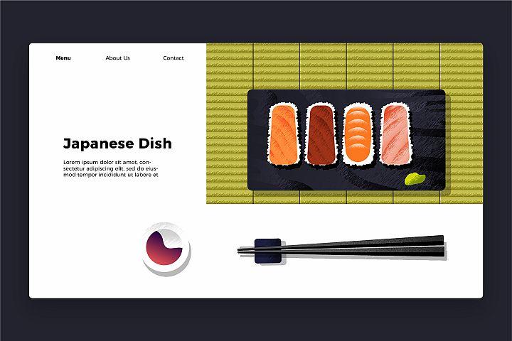 Japanese Dish - Banner & Landing Page