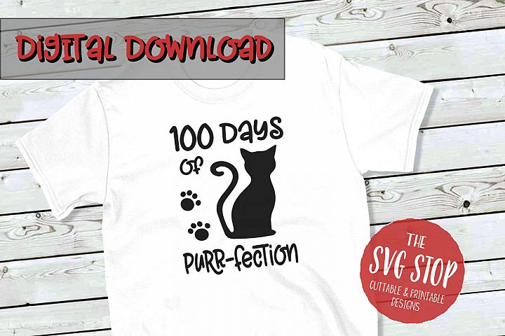 100 Days of School Design -SVG, PNG, DXF