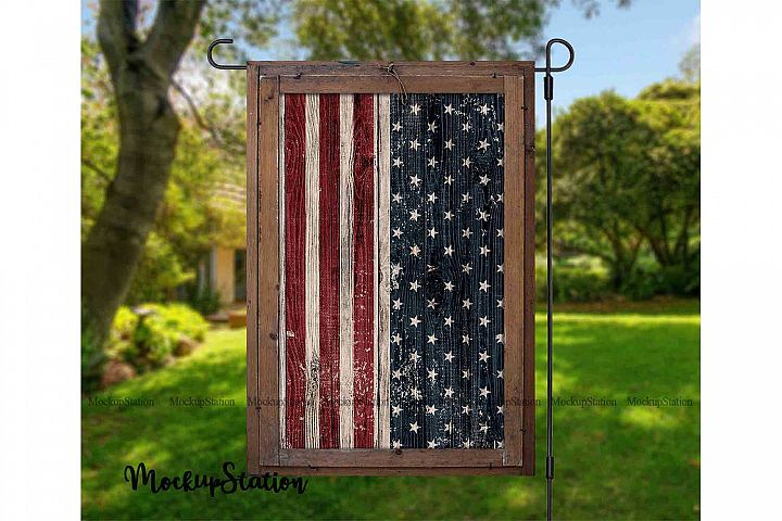 Garden Flag Stars And Stripes Sublimation Png, USA Flag