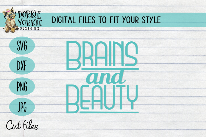 Brains and beauty, smart, design, lines, simple - SVG cut