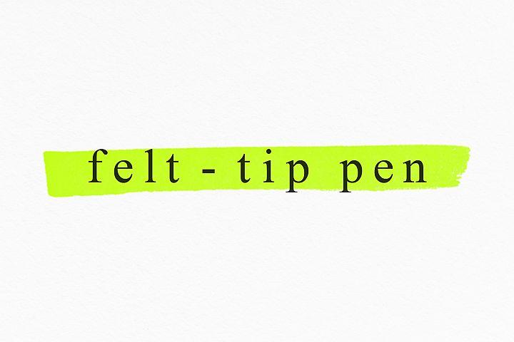 Felt-tip pen brushes for PS