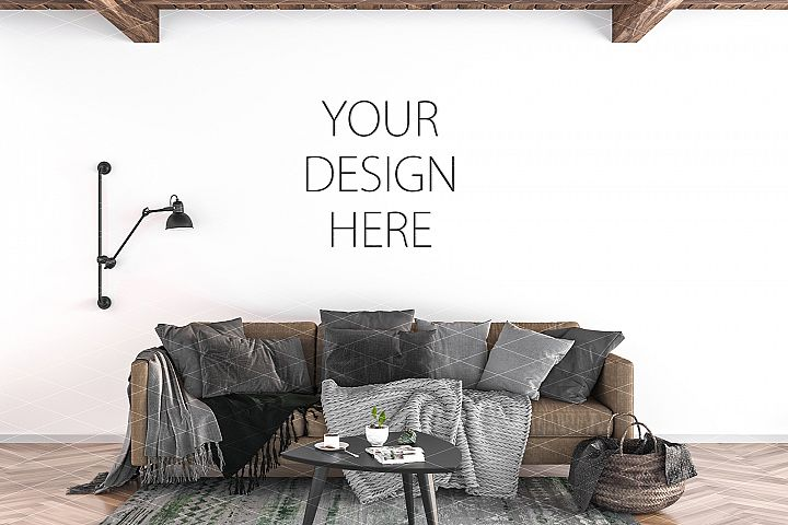 Interior mockup - artwork background