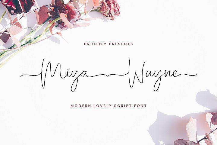 Miya Wayne - Modern Lovely Script Font