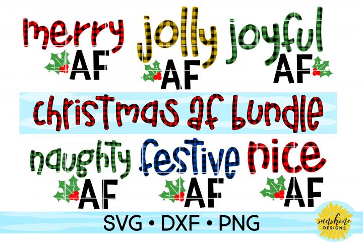 CHRISTMAS AF BUNDLE / MERRY AF / JOLLY AF / JOYFUL AF