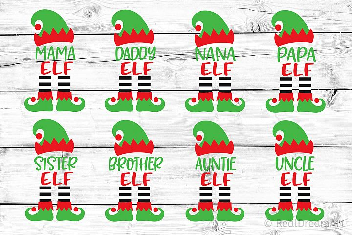 Elf Family Bundle SVG, DXF, PNG, EPS