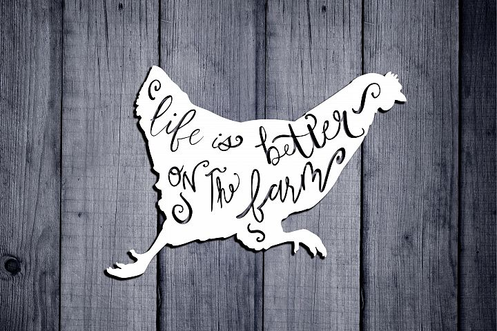 Farm life Svg, Life Is Better On The Farm Svg, Farm Animal