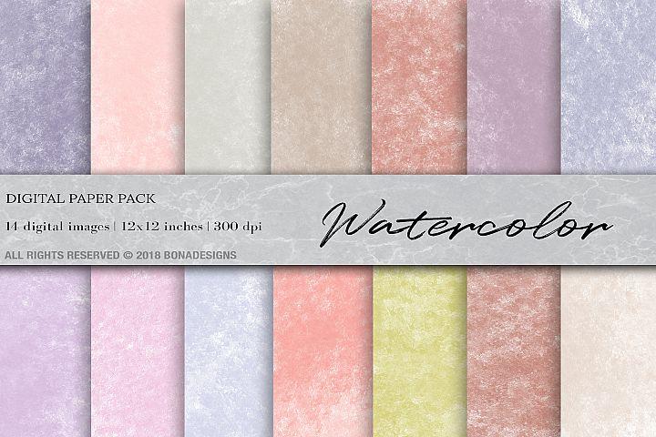 Watercolor Digital Paper, Watercolor Textures