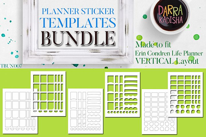 Planner Stickers Digital Kit - Templates Bundle Vol. 7