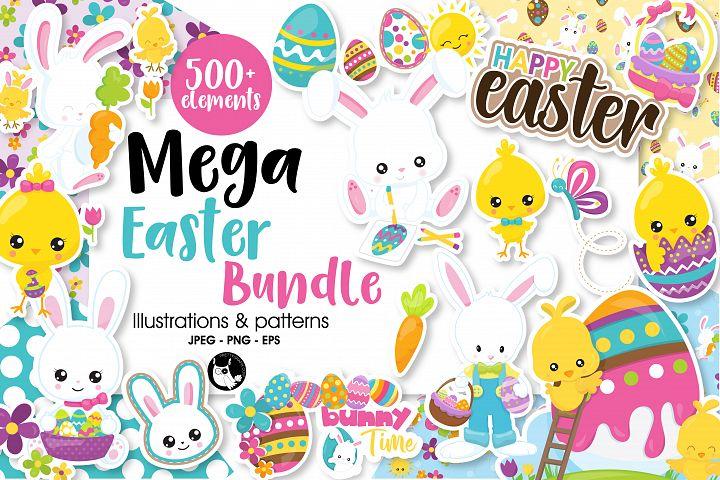 Easter Mega Bundle graphics and illustrations