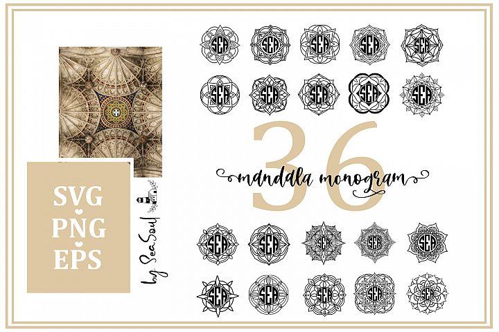 Mandala Monogram. EPS, PNG, SVG