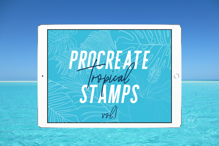 20 Procreate Tropical Stamps Vol. 1