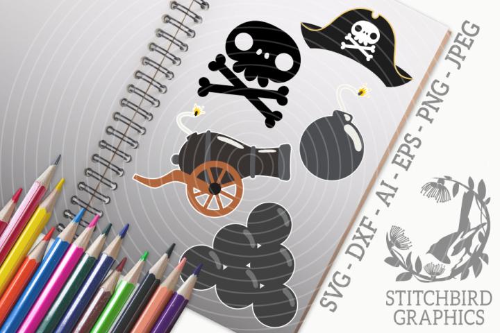 Pirate 2 Bundle SVG, Silhouette Studio, Cricut, Eps, JPEG