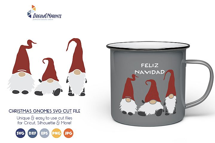 Christmas Gnomes SVG Cut Files